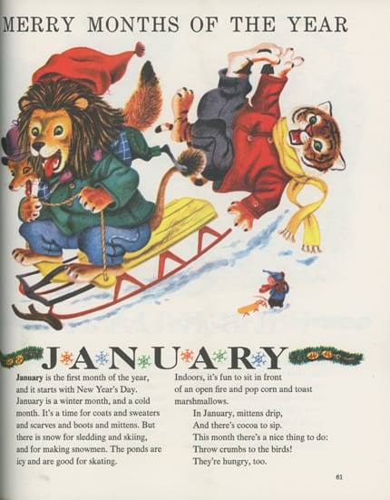 Richard Scarry's Merry Months Of The Year